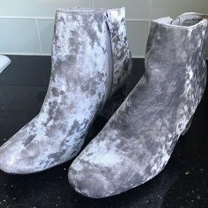 Velvet Grey/Blue Booties
